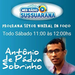 Programa de rádio 'Setor mineral em foco' estreia neste sábado (13)
