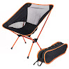 ONEONEY Portable Camp / Beach Chair Perfect For Beach, Camping, Backpacking, & Outdoor Festivals. Compact & Heavy Duty (Supports 350 lbs)-(Yellow)