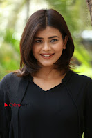 Actress Hebah Patel Stills in Black Mini Dress at Angel Movie Teaser Launch  0132.JPG