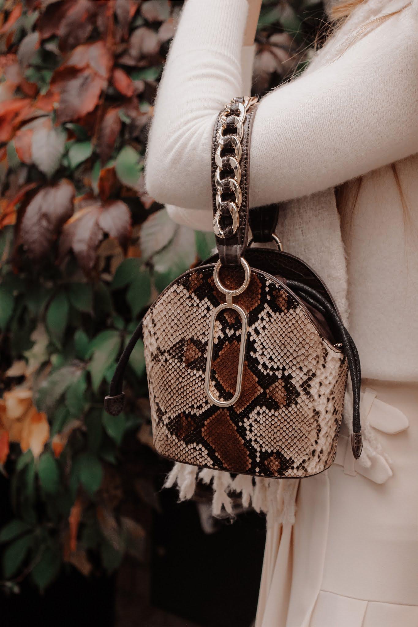 Moda in Pelle Snakeskin Bag