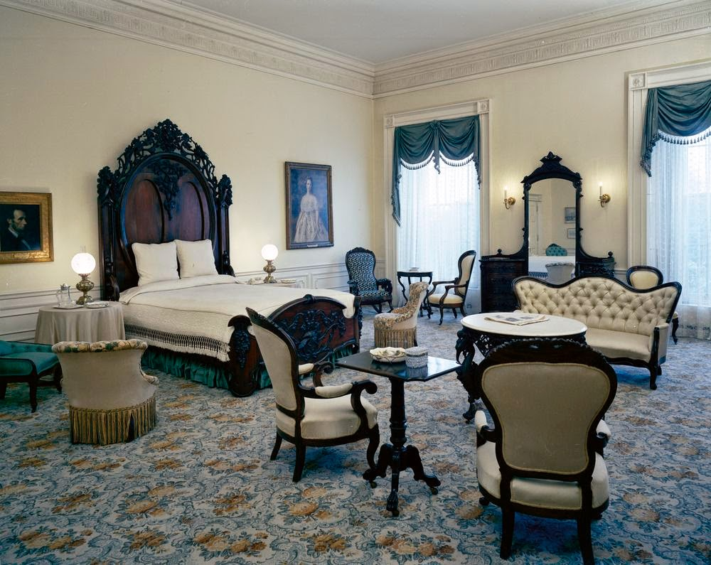 View Of The Lincoln Bedroom White House Washington D C Portraits Abraham Left And Mary Todd Center Hang On Wall