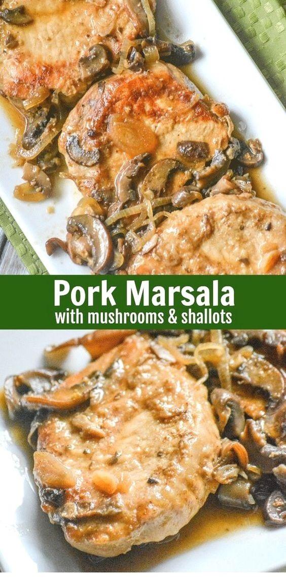 Pork Marsala With Mushrooms & Shallots