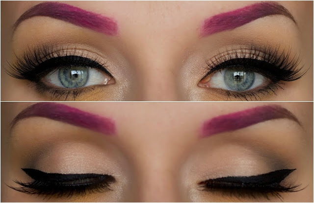 Resultado de imagem para sobrancelhas com tintas coloridas