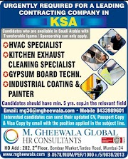SAUDI JOBS : REQUIRED FOR A LEADING CONTRACTING COMPANY IN SAUDI .g