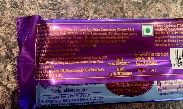 Cadbury's Dairy Milk Butterscotch Crunch
