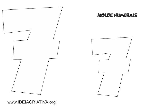 Molde Numerais Galinha Pintadinha para imprimir