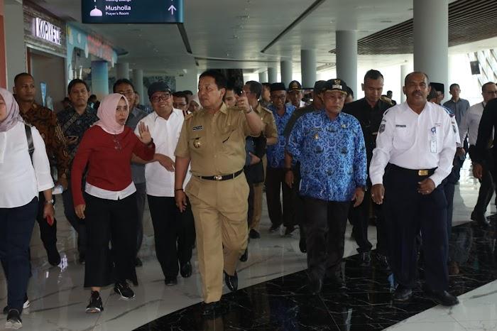 Jelang Kedatangan Jokowi, Gubernur Lampung Arinal Djunaidi Di Dampingi Plt Nanang Ermanto Cek Pelabuhan Di Bakauheni.