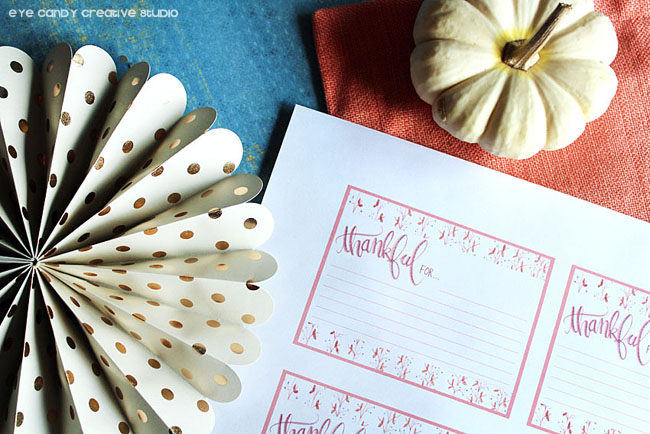 hand lettering, freebie, thanksgiving cards, thanksgiving place setting