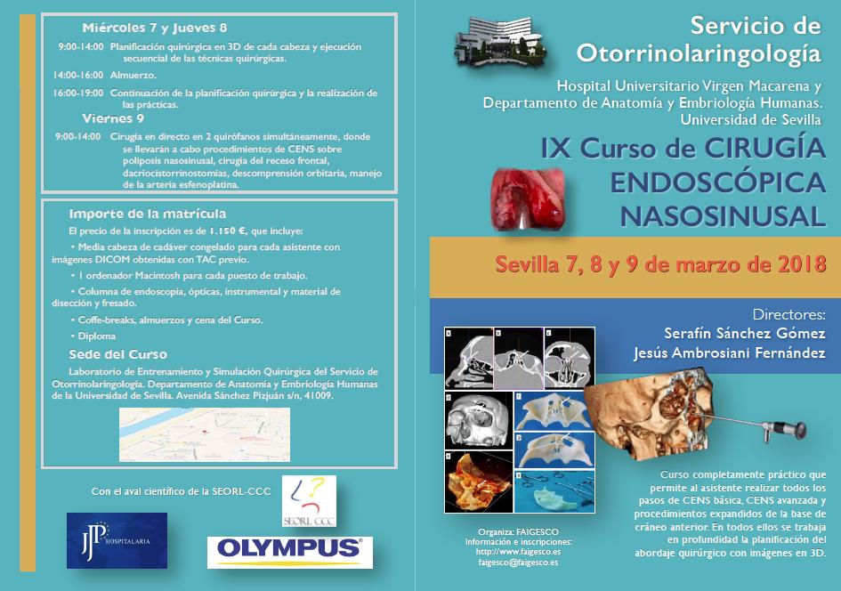 UGC-ORL HUVM: IX CURSO DE CIRUGIA ENDOSCOPICA NASOSINUSAL