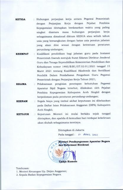 Formsasi ASN 2021 Kabupaten Aceh Singkil