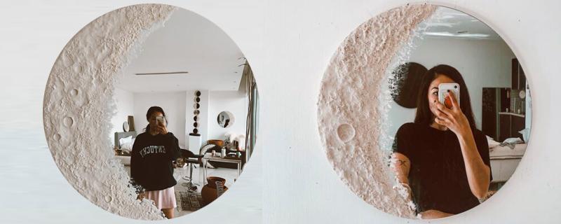 Fases de la luna en un espejo