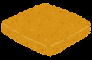 ハンバーガーの具材のイラスト(フィッシュ)