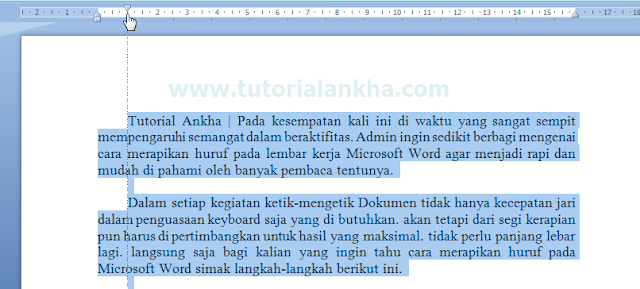 Cara mudah merapikan text di microsoft Office word