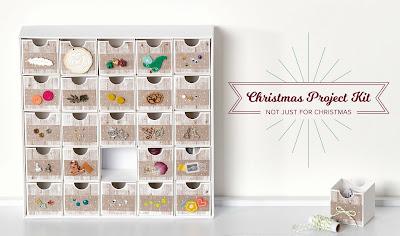Stampin' Up! Designer Paper + Christmas Countdown Calendar Kit = Chic Storage Solution! #stampinup