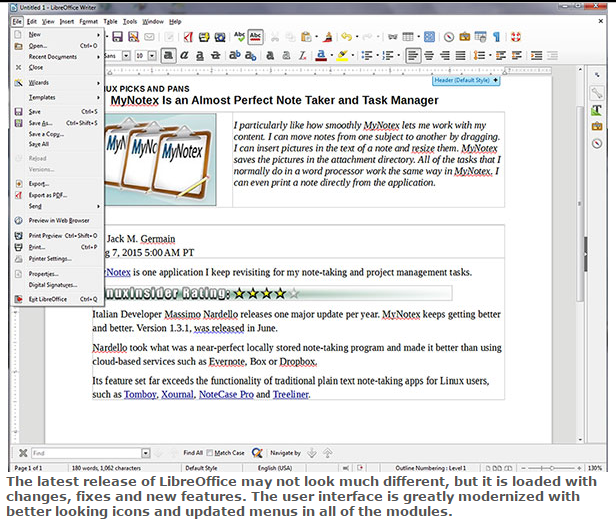 Review Info Technology LibreOffice 5 0 Is the Office Suite Champ