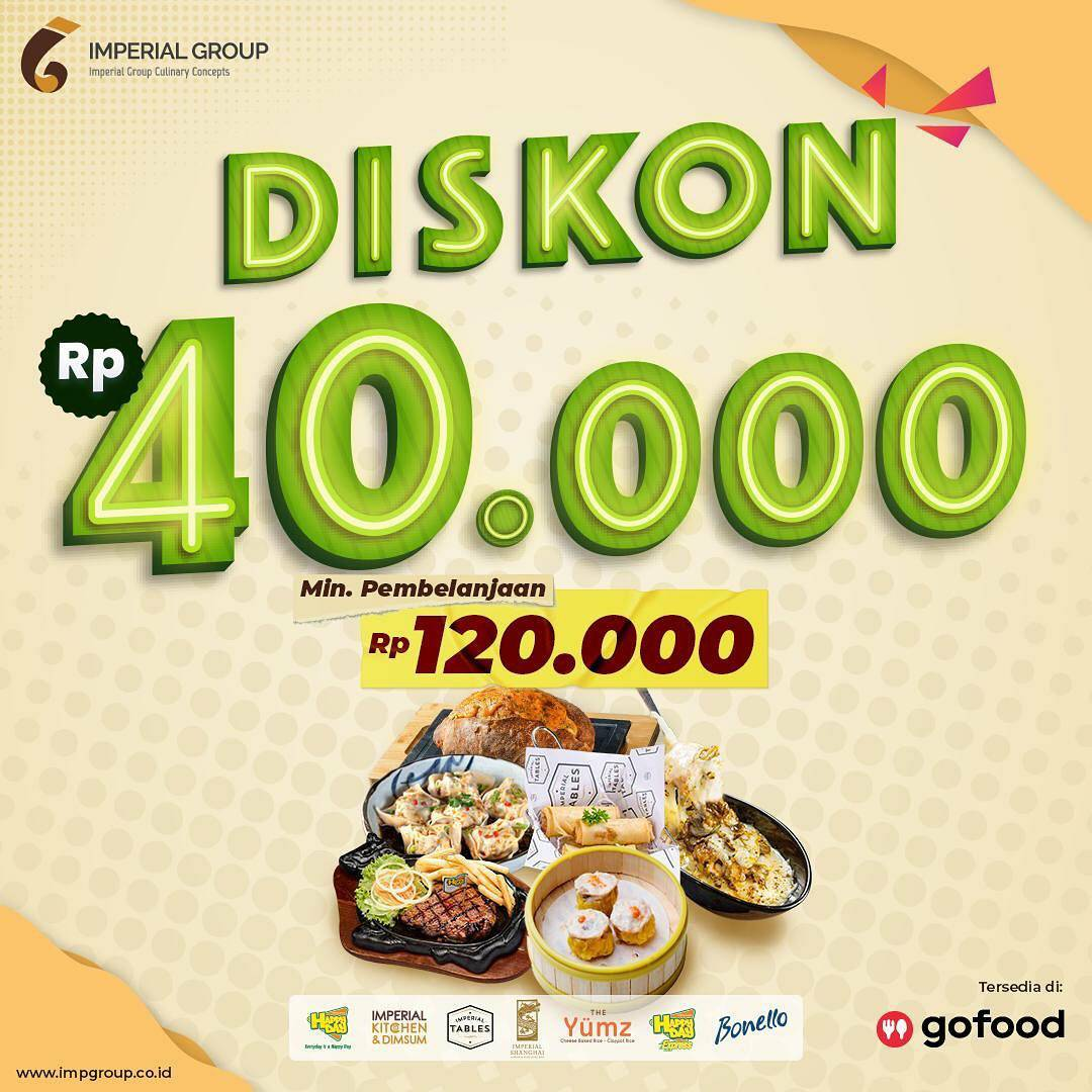 Promo IMPERIAL TABLES DISKON hingga Rp 40.000 Bareng GOFOOD