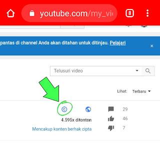 Apakah video copyright bisa di Menotisasi