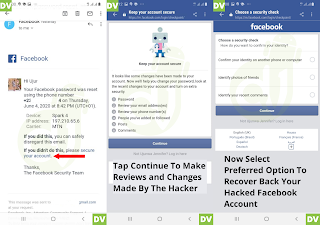 Recover hacked facebook account
