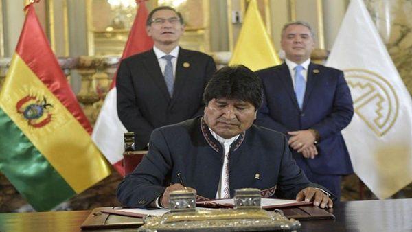 Bolivia asume presidencia de la Comunidad Andina de Naciones