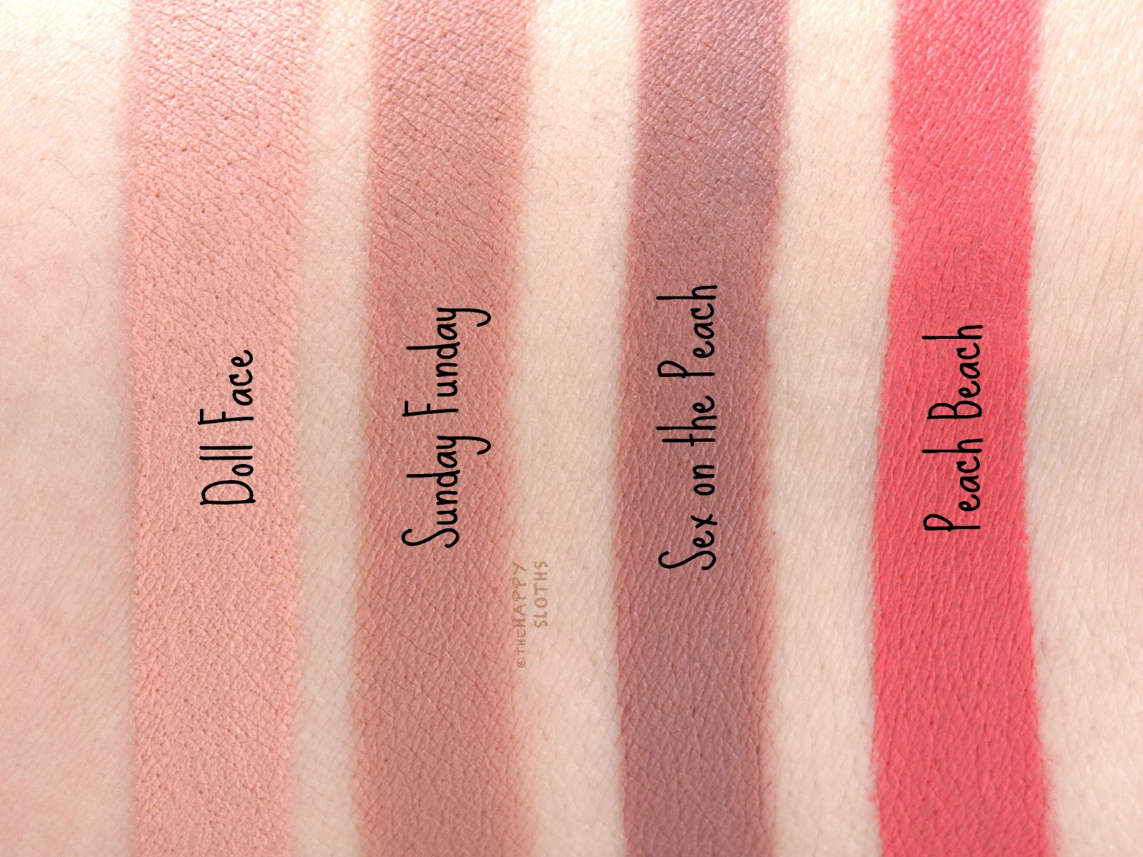 Too Faced Peaches & Cream Collection | Peach Kiss Moisture Matte ...