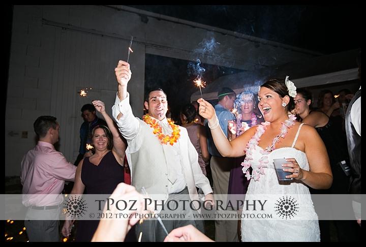 Sparkler Exit Duke Farm Wedding Reception