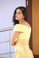 Shipra gaur in V Neck short Yellow Dress ~  049.JPG