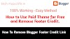 How To Remove Redirecting Blogger Footer Credit - Easy Steps