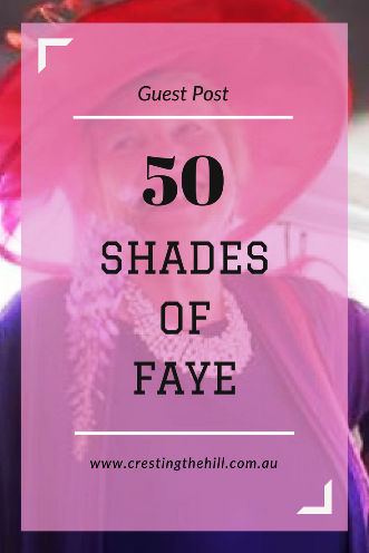 "My mum Faye is guest posting on the blog today - find out why it's titled ""50 Shades of Faye""!"