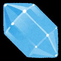 鉱石のイラスト(青)