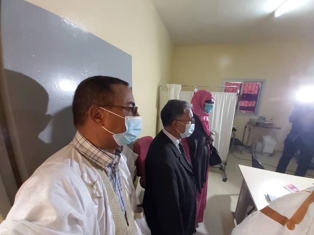 نواذيبو : الأمينة العامة لوزارة الصحة تشيد بالمركز الصحي البلدي..- صور