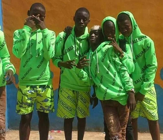 Nigerians React As Photos Of Young Boys Rocking Fake 'Balenciaga' Surface Online