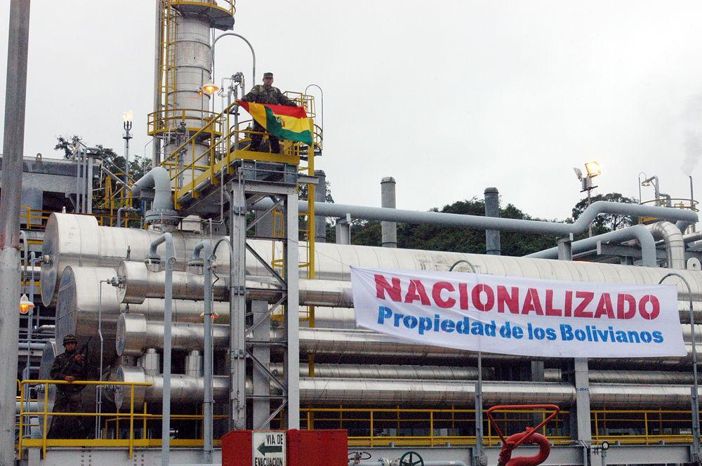 Falsa nacionalización en Bolivia