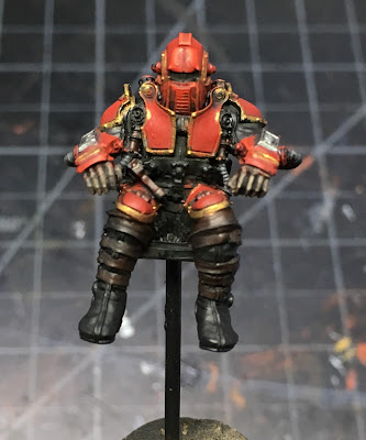 House Taranis Knight Scion WIP - fully painted