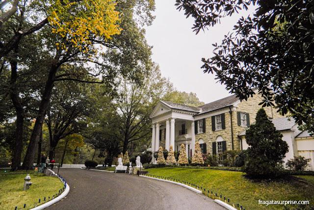 Mansão de Graceland, onde Elvis morou por 20 anos