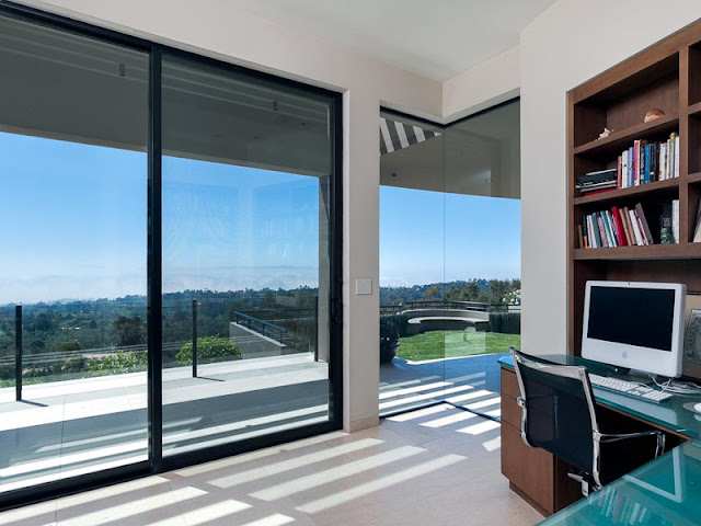 Photo of home office with the view