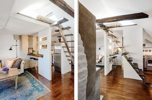 Apartamento decorado vintage e rústico. Blog Achados de Decoração