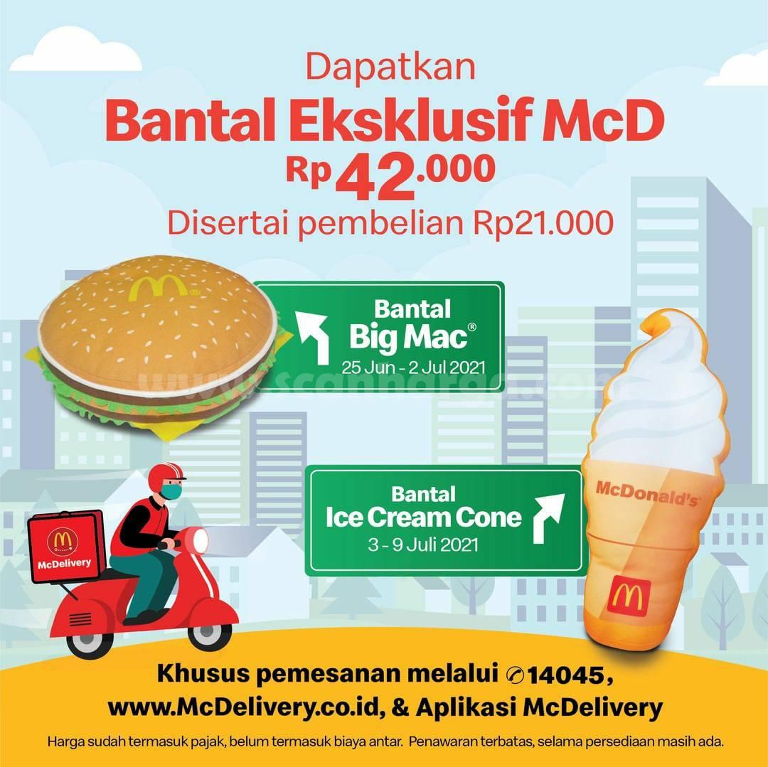 McDonalds Promo Bantal Big Max / Ice Cream Cone McD harga hanya Rp. 42.000