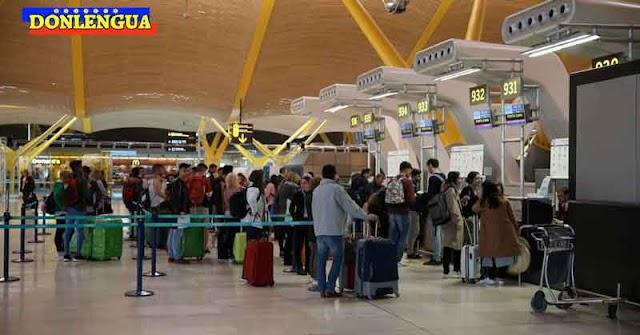 1500 venezolanos se quedaron varados en aeropuertos de España