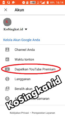 Cara Daftar Youtube Premium Gratis di Android / PC