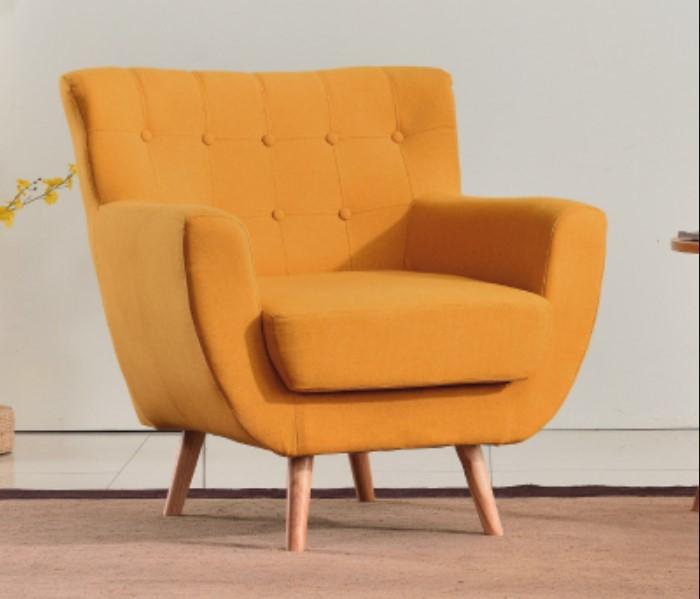 Orange minimalist sofa single couch for kids elegant