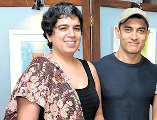 Foto Aamir dengan Reena Dutta
