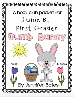 https://www.teacherspayteachers.com/Product/Junie-B-First-Grader-Dumb-Bunny-Book-Packet-3236642