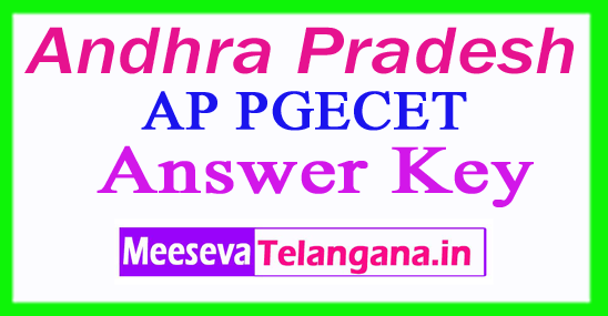 AP PGECET Answer Key 2017 Rank Card