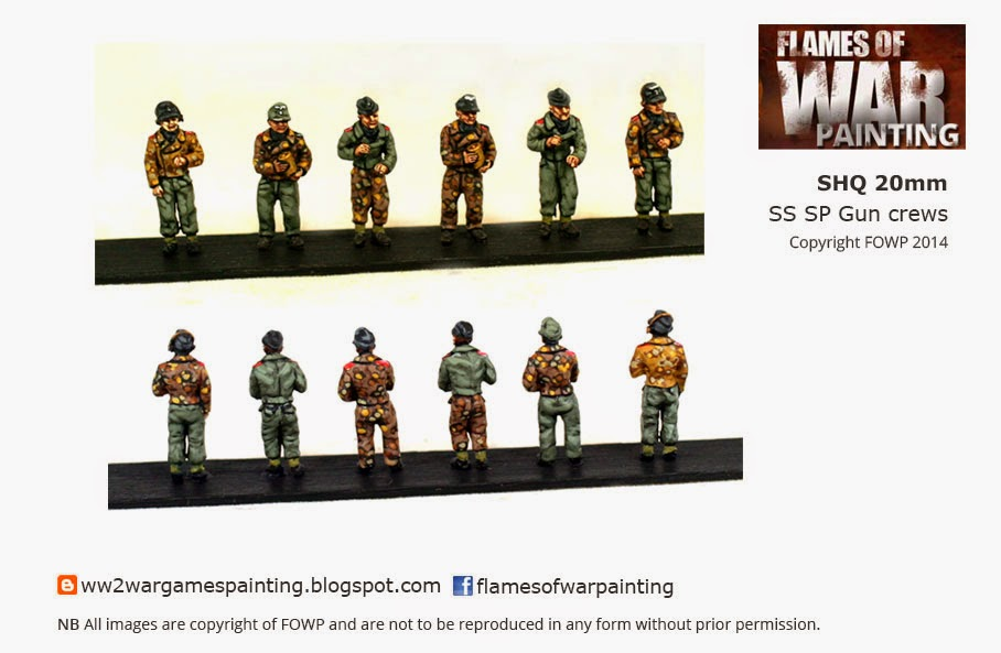 Painted SHQ 20mm SS SP Gun Crews v