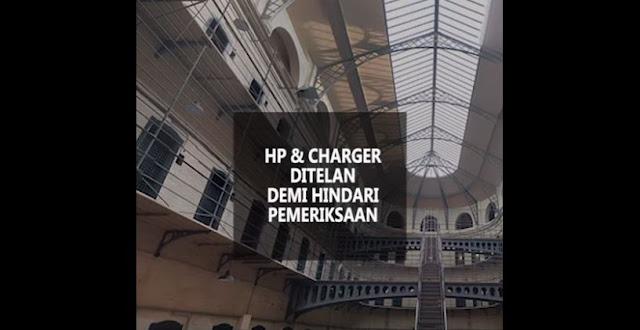 Pemeriksaan Didalam Sel Tahanan, Narapidana Di India Ini Nekat Telan Charger HP nya