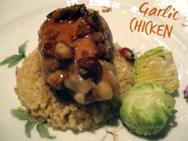 Garlic chicken by Laka kuharica: finger-licking chicken done in 30 short minutes.