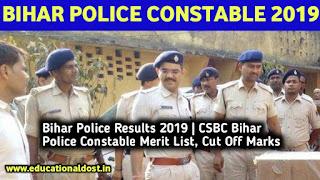 Bihar Police Results 2019 | CSBC Bihar Police Constable Merit List, Cut off Marks bihar Police Constable Result 2019