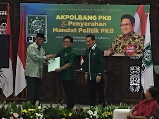 <b>DPP PKB Akhirnya Serahkan Mandat Dukungan Kepada Pasangan Suhaili-Amin</b>