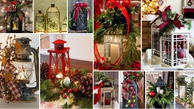 Χριστουγεννιάτικες Συνθέσεις με Διακοσμητικά Φαναράκια