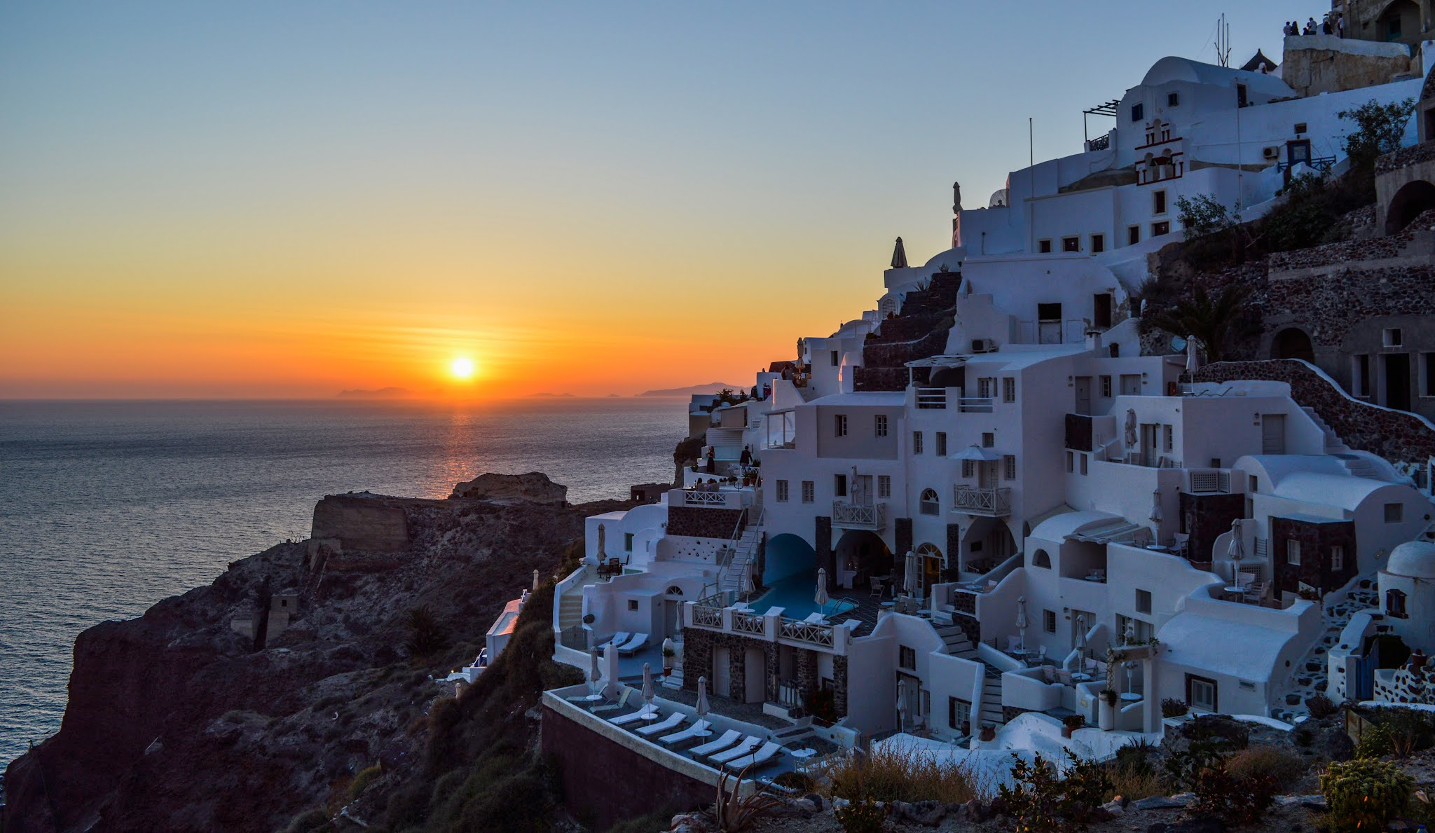 Santorini at sunset free stock image from Pexels by Gotta Be Worth It